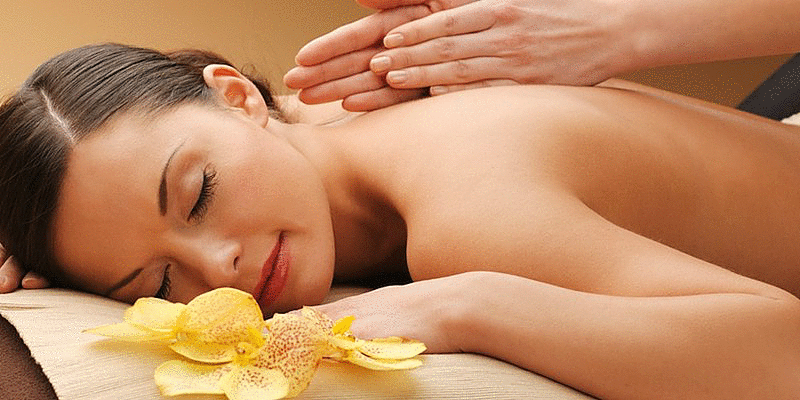 During the massage