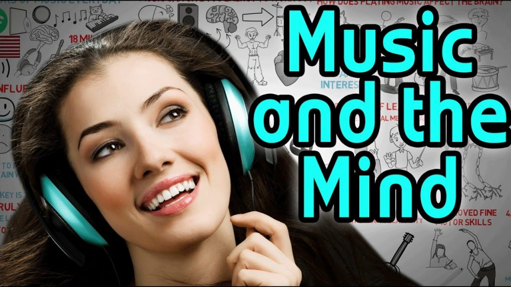 Image showing a woman thinking while listening music