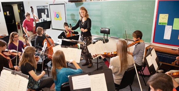 Image showing an instrument class is going on