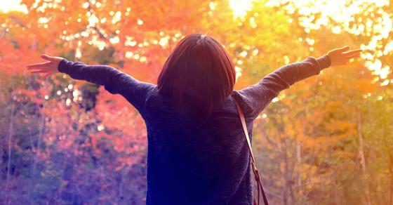 Image of a woman enjoying nature