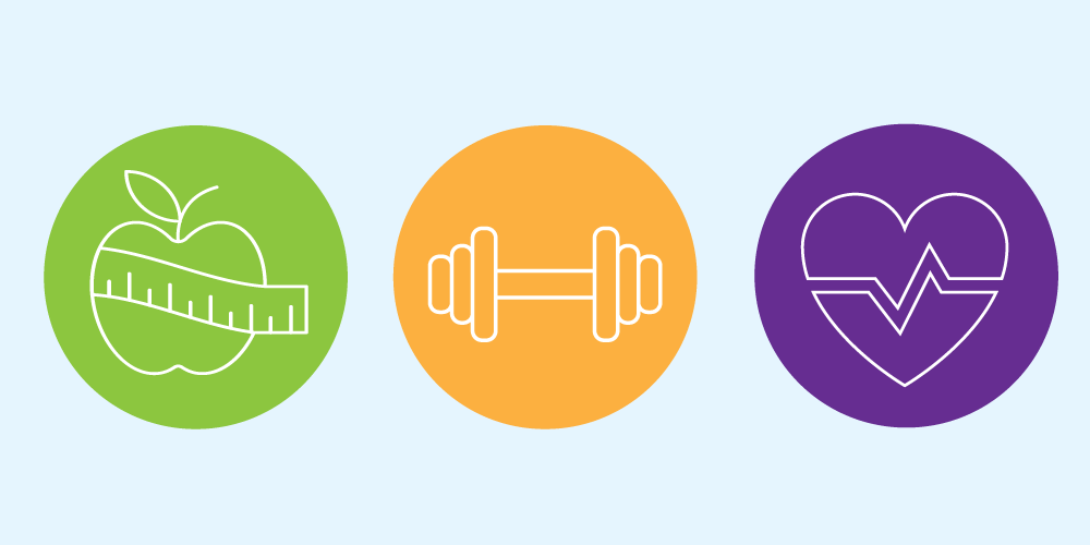 Image Represents the healthy habits icons