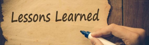 Lessons Learned…And Still Learning