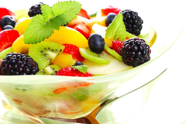 Healthy Fruit Salad In A Bowl.