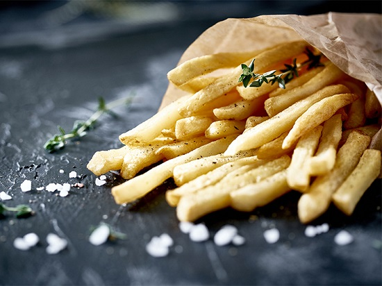 French Fries Placed On The Table - Realise The Junk Food Concept.
