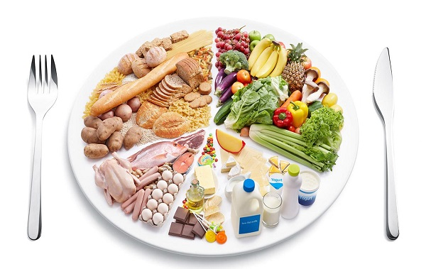 All Type Of Diet Food Representing In A Plate.