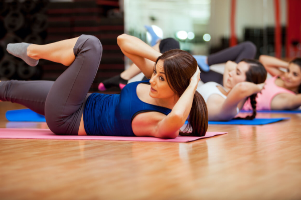 Beautiful Women Working Out In Gym.
